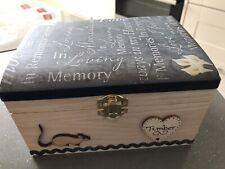 PET IN LOVING MEMORY WOODEN KEEPSAKE PRINT BOX ASHES PERSONALISED GIFT ANIMAL