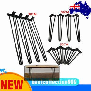4x Premium Steel Hairpin Legs Bench Desk Coffee Table Legs 30/60/90cm AU