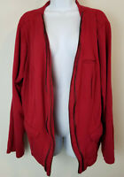 Torrid Sweater Red Pocket Front Casual Cardigan Stretch Layer Top Juniors Size 3