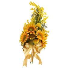 Wedding Bridal Bridesmaid Artificial Sunflower Bouquet Hand Tied Flower