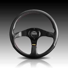 Momo Tuner Black Steering Wheel 350mm Leather