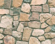 Papel papel pintado Dekora naturaleza 6 as 6924-12 naturaleza un muro de piedras piedras marrón beige gris