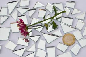 105g Spiegelmosaik Formen-Mix 15-35mm silber MULTI-RABATT Spiegelsteine ca 48 St