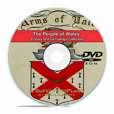 Wales, People Cities and Family Tree History and Genealogy 145 Books DVD CD B28