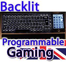 Saitek Eclipse Backlit Illuminated UK Keyboard Wired USB