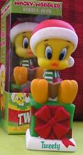 Looney Tunes Holiday Tweety Wacky Wobbler Bobblehead - Brand New