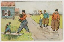 Artist postcard - Hollands - Dutch Scene by Edmund Fuller - P/U 1910
