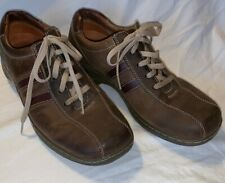 Sketchers Mens Brown Leather Tennis Shoes Sneakers Size 11 EUC