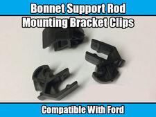 2x Clips For Ford Classic models, Escort, Sierra, Capri Bonnet Strut Rod Black