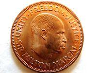 "1964 Sierra Leone One Cent ""Sir Milton Margai"" Coin"