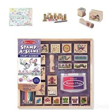 Extra Large Stamp Set For Kids Stamp-a-Scene Stamp Pad Fairy Garden