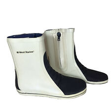 West Marine Rubber Waterproof Deck Boots 11 Zip Short Sea Rain Boating Sailing