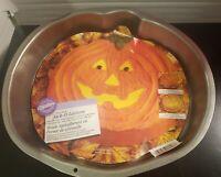 Vintage Wilton Jack-o-Lantern Pumpkin Face Halloween Cake Pan 1997 Non-stick New