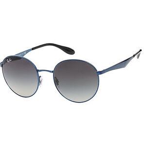 RAY BAN Metallic Blue Round Sunglasses 100% UV PROTECTION AND 100% GENUINE