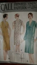Vintage 1920's Flapper Era McCall's Misses Dress Sewing Pattern # 5292 ~ Size 18