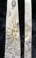 Preowned Vintage Fornasetti Hand Made Italy Mens 100% Silk Neck Tie 57 In 3.7