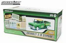 GREEN 1965 CHEVROLET C-10 STEPSIDE GREENLIGHT 1:18 SCALE DIECAST MODEL TRUCK
