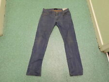 "Zara Man Black Tag Straight Jeans Waist 36"" Leg 34"" Faded Medium Blue Mens Jeans"