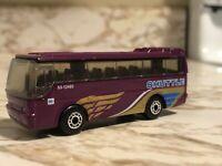 Ikarus Coach Matchbox Purple Shuttle Bus 1986 Vintage