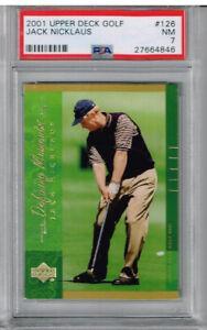 2001 Upper Deck Golf Jack Nicklaus PSA 7