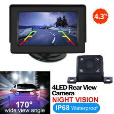"""170° Rear View Car Night Vision Parking Camera + HD 4.3""""TFT Monitor Kit"""