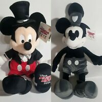Disney Milestone Mickey • Steamboat Willie 1928 and 2004 75th Celebration Plush