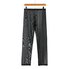 Men Pants Mesh Breathable Slip Sheer Trousers Male Underwear Lounge Nightwear