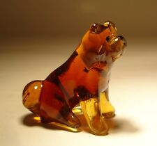 "Blown Glass ""Murano"" Art Figurine Dog Chow Chow Sitting"