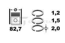 R1007600 Kolbenringsatz RENAULT OPEL NISSAN 1,8 2,0 16V 7701474725