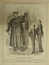 PUNCH cartoon 1888 SUCH GOOD BOYS gladstone , teacher