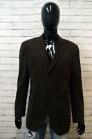 RALPH LAUREN Uomo Taglia L Giacca Elegante Cappotto Blazer Cotone Jacket Marrone