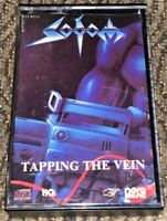 Sodom ‎– Tapping The Vein. VG Cassette Tape Plays Well MC Rare Thrash Metal
