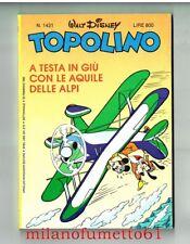 TOPOLINO N.1421 del 20 febbraio 1983 con 8 figurine - come nuovo