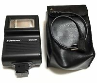 Toshiba 3025 Shoe Mount Flash with Case in Excellent Condition from Japan F/S