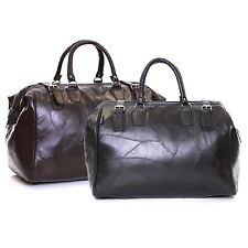 Genuine Leather Travel Cabin Weekender Hand Luggage Handbag Sports Holdall Bag