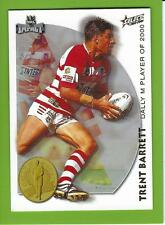 2001SELECT NRL IMPACT SERIES-ACCOLADES-A1-TRENT BARRETT-DRAGONS