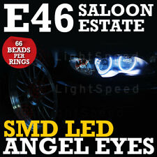 BMW E46 SMD LED ANGEL EYES RINGS NON-PROJECTOR REFLECTOR KIT RINGS COUPE SALOON