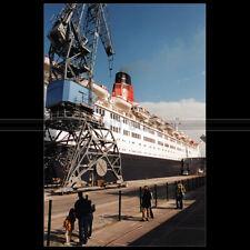 Photo B.001127 PAQUEBOT QUEEN ELIZABETH 2 QE2 CUNARD LINE 2001 CHERBOURG LINER
