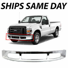NEW Chrome - Steel Front Bumper Face Bar for 2008-2010 Ford F250 F350 Super Duty