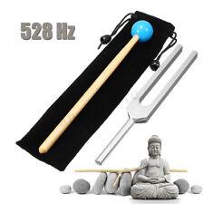 528HZ Aluminum Medical Tuning Fork Chakra Hammer Ball Diagnostic + Mallet Set