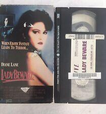 Lady Beware - VHS 1989 OOP Thriller Diane Lane