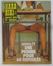 Revue Hara-Kiri n° 133 Octobre 1972
