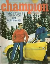 CHAMPION 14 1967 ESSAI HONDA S800 CABRIOLET S AZIOSMANOFF GRAC SUZUKI 120 B 100P
