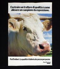 FIAT TRATTORI manifesto poster Mucca Toro Cow Bull Motori Allevamento B113
