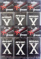 6 x Areon X Version Auto Luft Erfrischer Schwarz Kristall HEIM BÜRO Taxi Duft