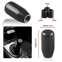 Universal Black Carbon Fiber Gear Stick Shift Knob Shifter Manual Transmission