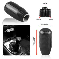 Universal Black Carbon Fiber Gear Stick Shift Knob Shifter Manual Transmission
