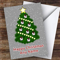 Baseball Xmas Tree Ornament Baubles Hobbies Personalised Christmas Card