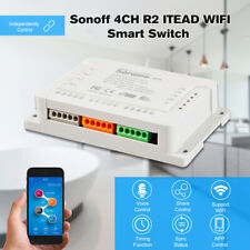 SONOFF 4CH R2 ITEAD 16A WiFi Smart Voice Control Switch for Home Appliances M9O4