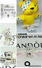 """AUTHENTIC PANDORA SILVER 2017 """"WAVING"""" PUDSEY BEAR CHARM & OFFICIAL HAND PUPPET"""